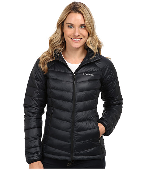 Columbia - Platinum 860 TurboDown Hooded Down Jacket (Black) Women