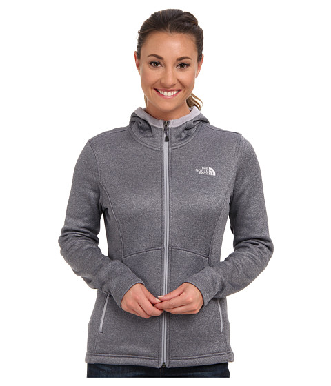 The North Face - Agave Hoodie (Greystone Blue Heather) Women's Sweatshirt