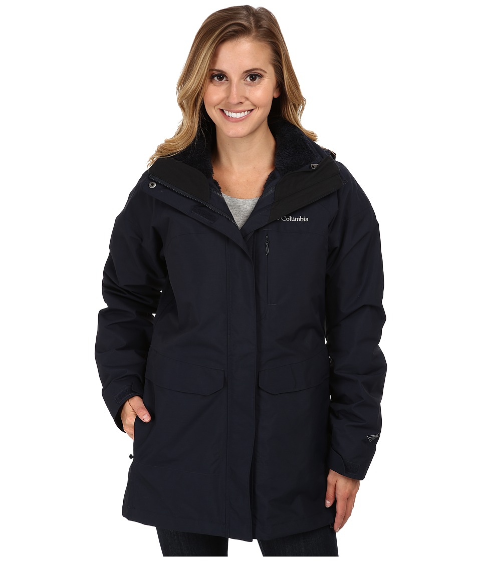 Columbia - Portland Explorer Long Interchange Jacket (Abyss/Black) Women's Coat