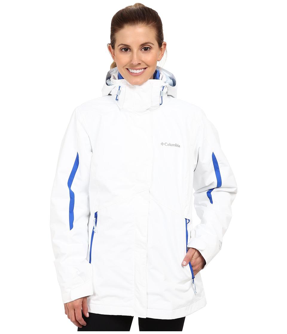 Columbia - Bugaboo Interchange Jacket (White/Blue Macaw) Women's Coat
