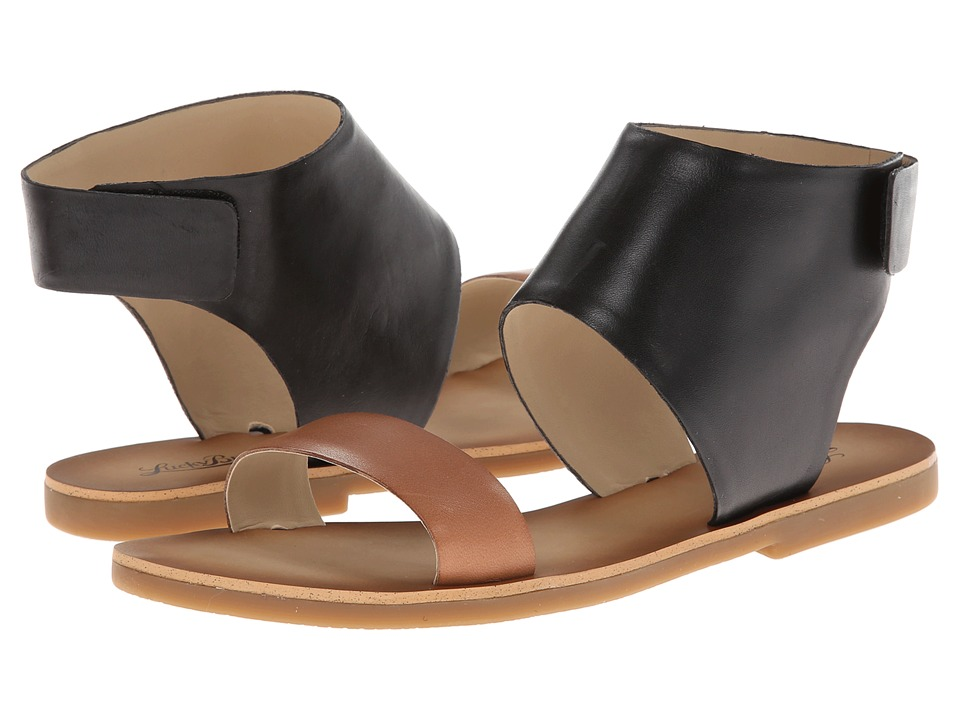 Lucky Brand - Boop (Black/Dark Camel) Women's Sandals