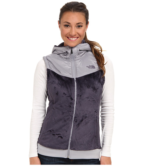The North Face - Oso Hooded Vest (Greystone Blue/Dapple Grey) Women