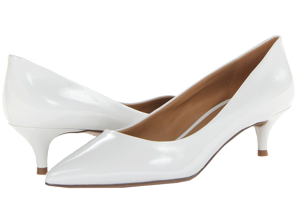 Nine West - Illumie (White Patent Synthetic) Women's 1-2 inch heel Shoes
