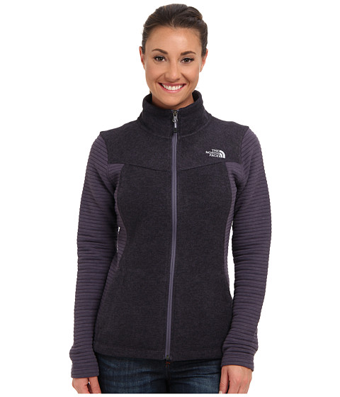 The North Face - Indi Full Zip (Greystone Blue) Women