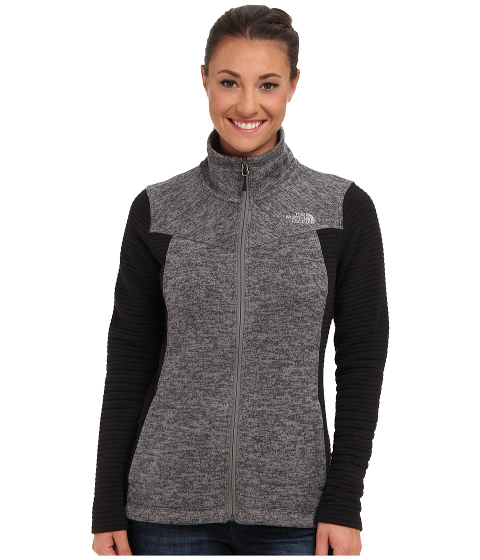 The North Face - Indi Full Zip (Pache Grey/TNF Black) Women's Fleece