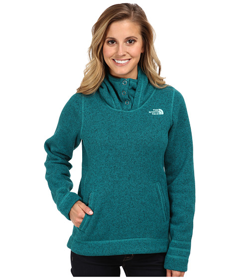 The North Face - Crescent Sunset Hoodie (Fanfare Green Heather) Women