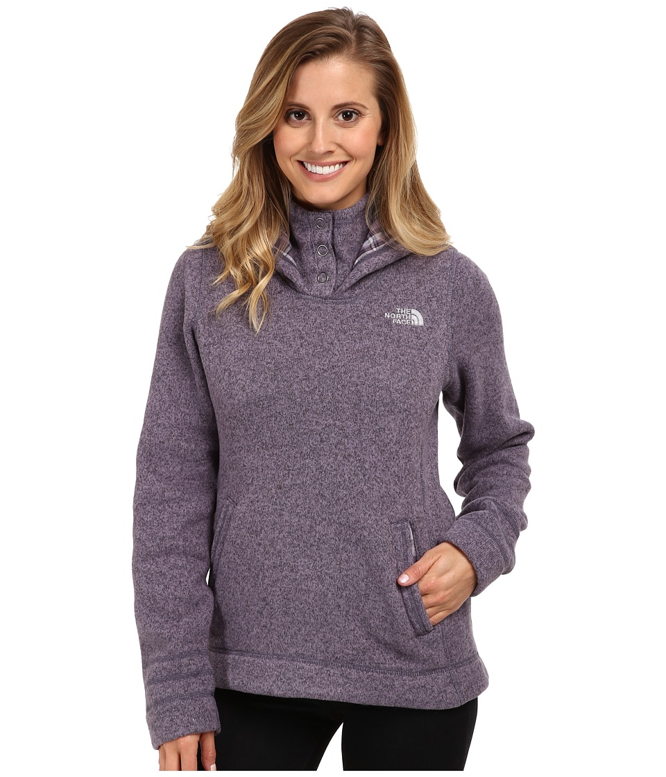 The North Face - Crescent Sunset Hoodie (Greystone Blue Heather) Women's Sweater