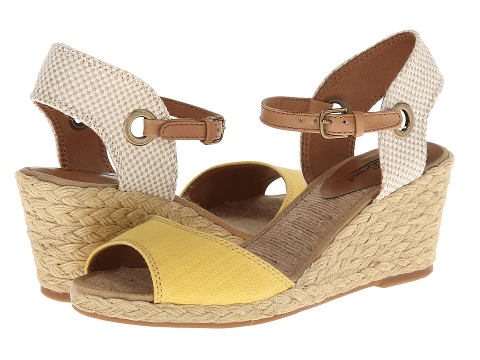 Lucky Brand Kyndra Womens Wedge Shoes (Yellow)