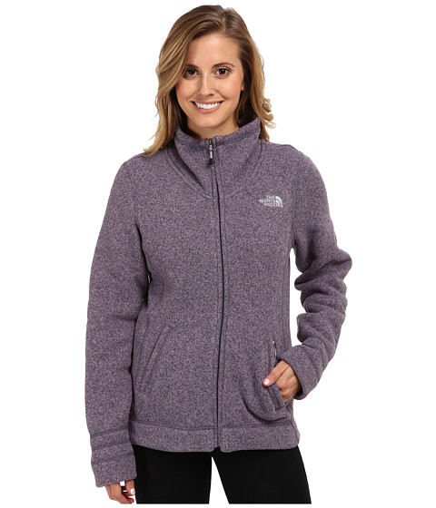 The North Face - Crescent Sunset Full Zip (Greystone Blue Heather) Women's Jacket