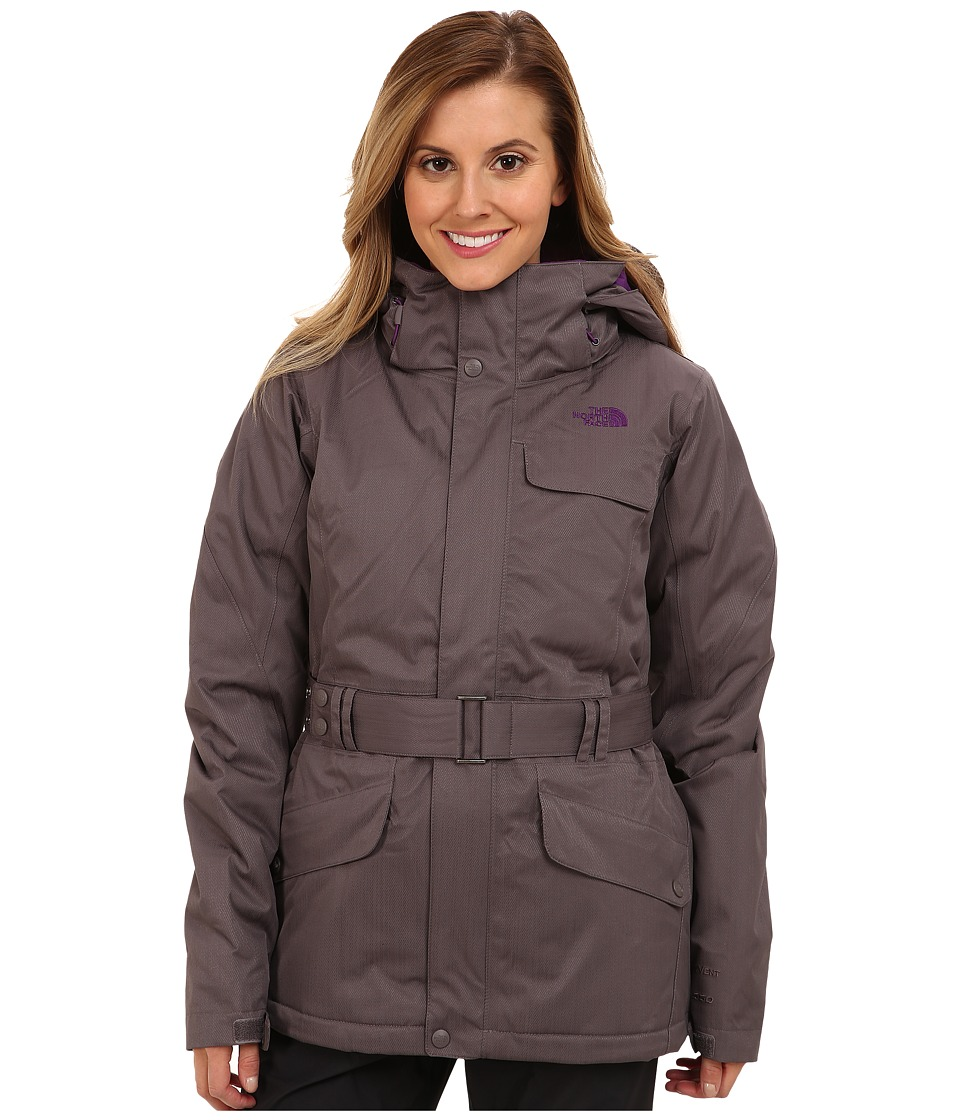The North Face - Get Down Jacket (Sonnet Grey/Sonnet Grey/Gravity Purple/Gravity Purple) Women