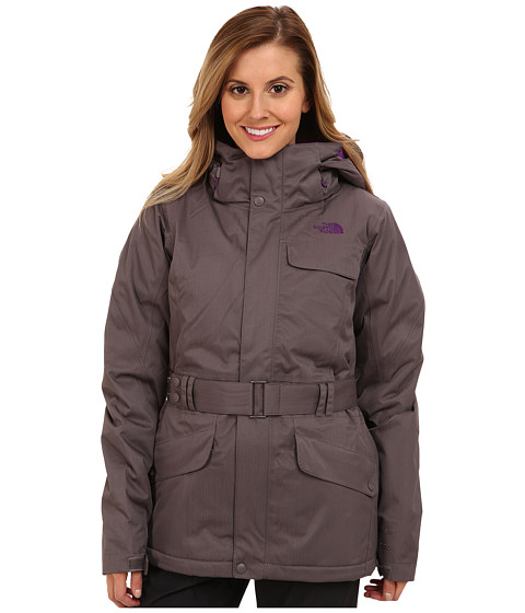 The North Face - Get Down Jacket (Sonnet Grey/Sonnet Grey/Gravity Purple/Gravity Purple) Women's Coat