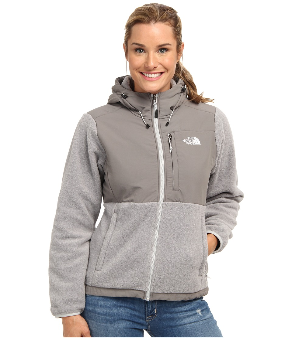 The North Face - Denali Hoodie (Recycled High Rise Grey Heather/Pache Grey) Women's Coat
