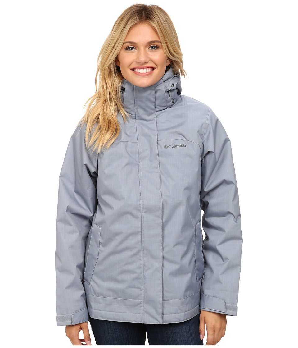 Columbia - Sleet To Street Interchange Jacket (Tradewinds Grey/Sea Salt) Women's Coat