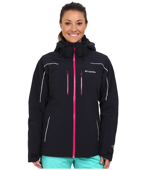 Columbia - Millennium Blur Jacket (Abyss/White Pops/Groovy Pink) Women's Coat