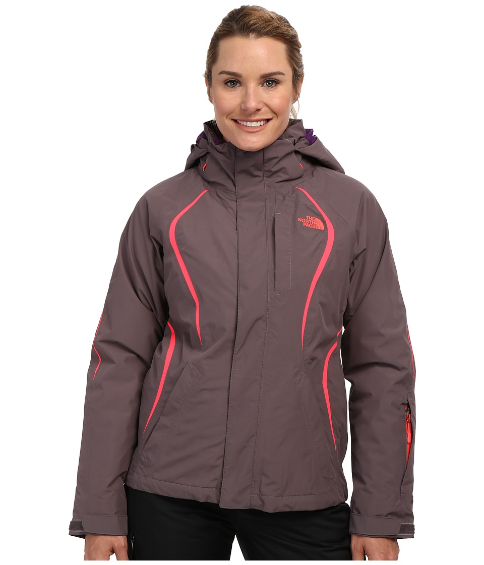 The North Face - Kira 2.0 Triclimate Jacket (Sonnet Grey/Sonnet Grey/Rocket Red/Gravity Purple) Women's Coat