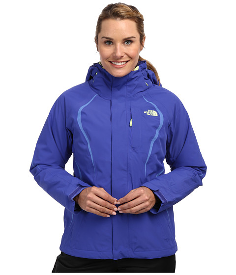 The North Face - Kira 2.0 Triclimate Jacket (Tech Blue/Tech Blue/Coastline Blue/Rave Green/Tech Blue) Women's Coat