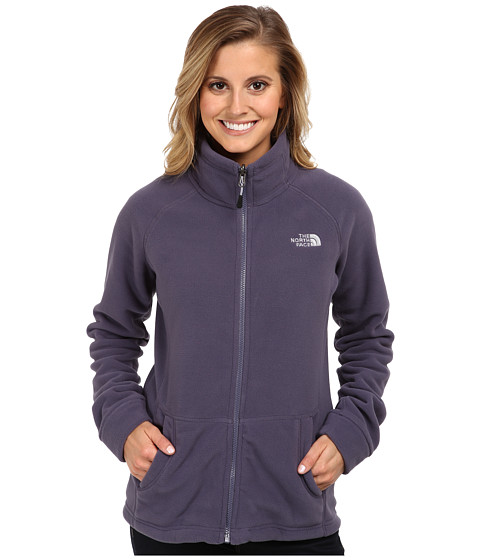 The North Face - Mezzaluna 200 Full Zip (Greystone Blue) Women's Fleece