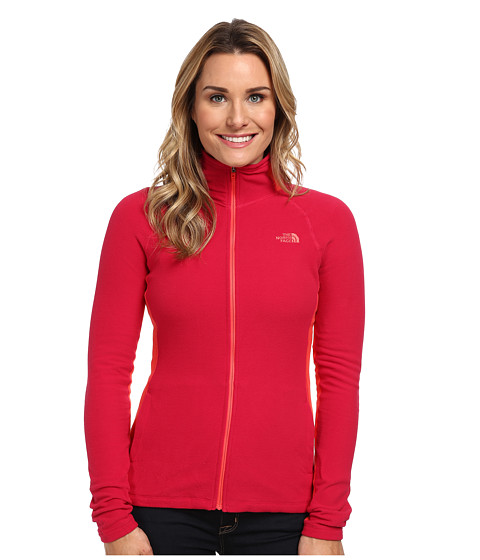 The North Face - Tech 100 Full Zip (Cerise Pink/Rambutan Pink) Women's Fleece