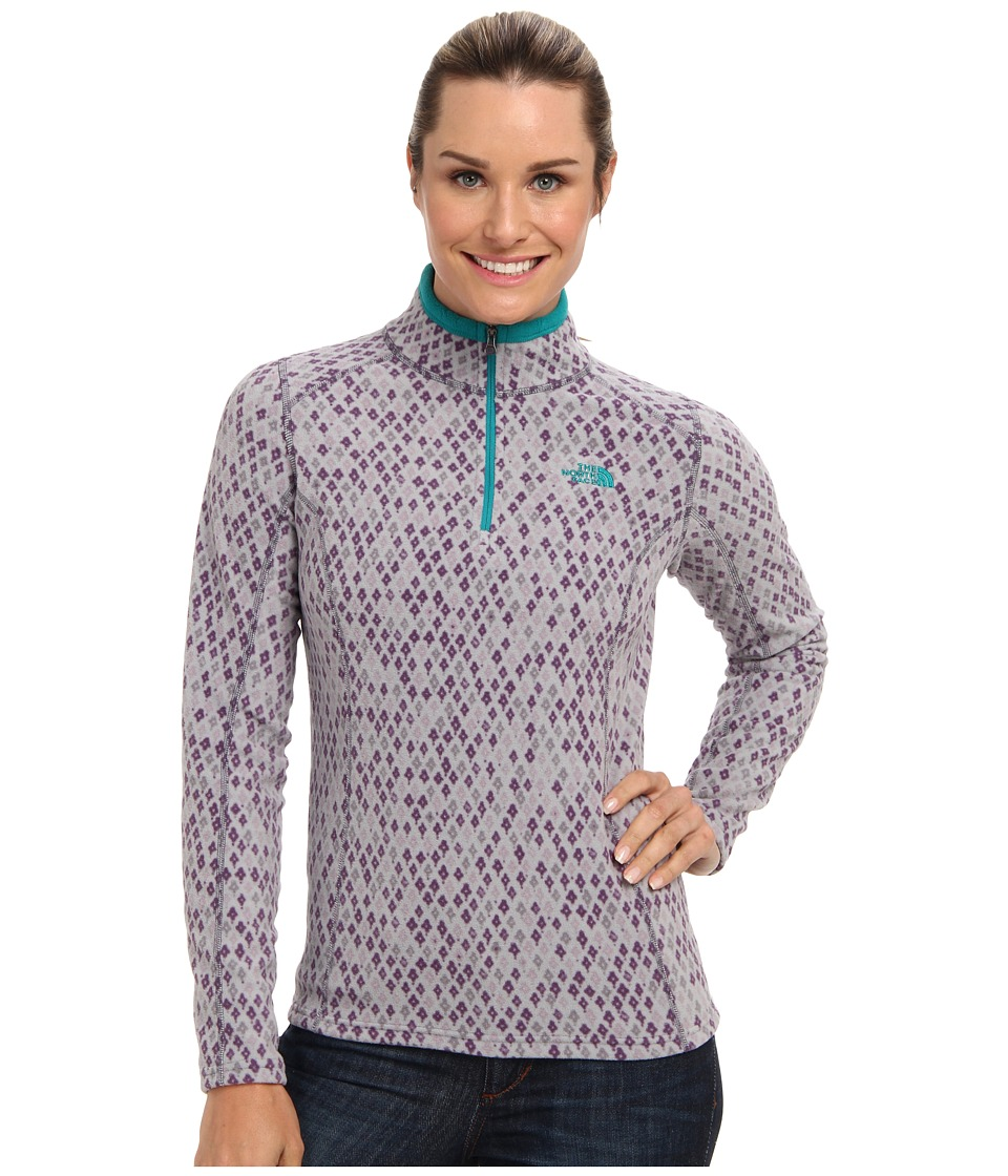 The North Face - Printed TKA Glacier 1/4 Zip (Greystone Blue Moroccan Print) Women