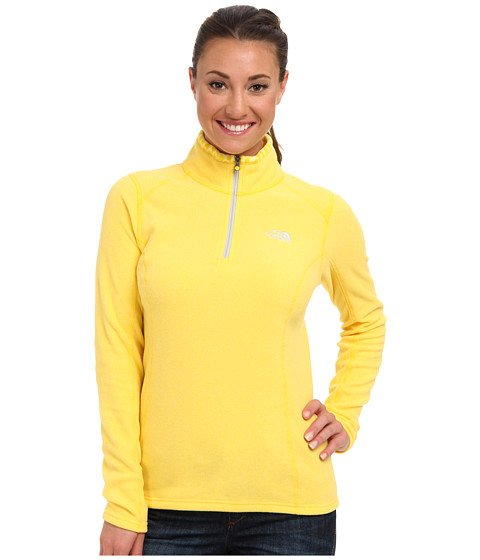 The North Face - Glacier 1/4 Zip (Dandelion Yellow Heather) Women's Sweatshirt