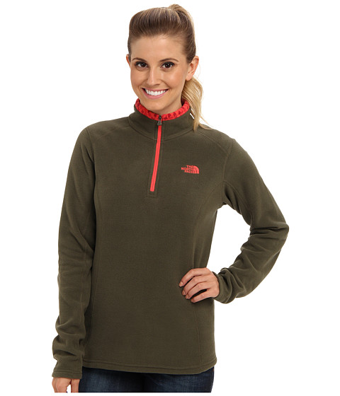 The North Face - Glacier 1/4 Zip (New Taupe Green) Women's Sweatshirt