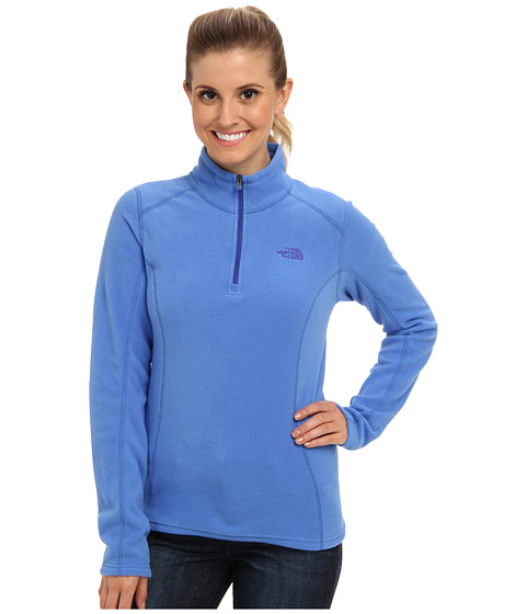 The North Face - Glacier 1/4 Zip (Coastline Blue) Women