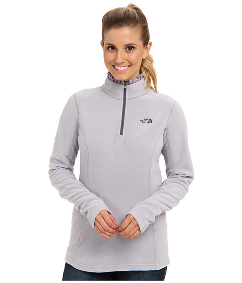 The North Face - Glacier 1/4 Zip (Dapple Grey/Greystone Blue) Women