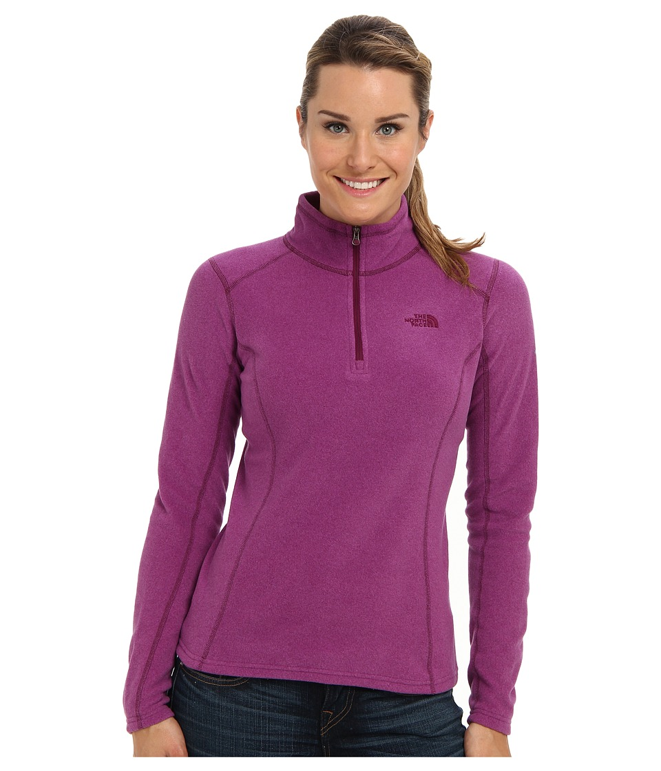 The North Face - Glacier 1/4 Zip (Parlour Purple Heather) Women's Sweatshirt