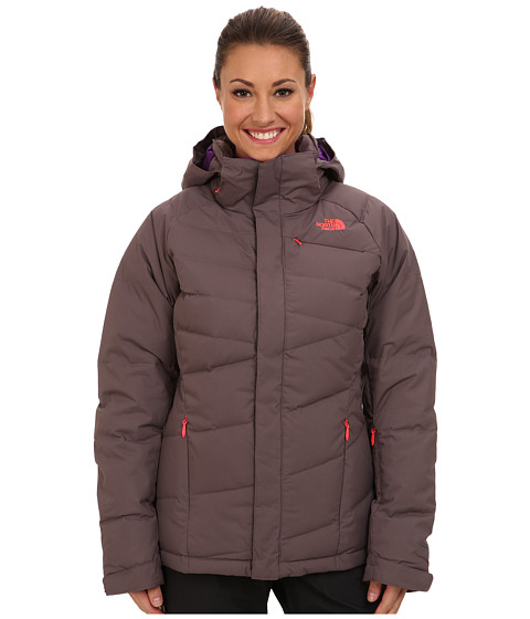 The North Face - Heavenly Down Jacket (Sonnet Grey/Sonnet Grey/Rocket Red/Gravity Purple) Women's Coat