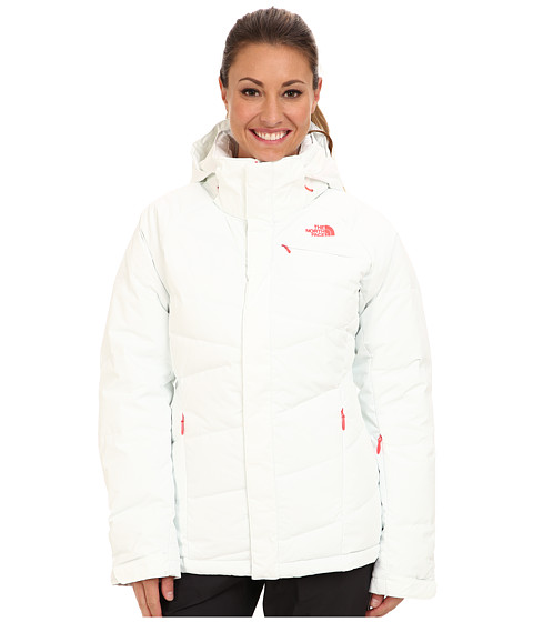 The North Face - Heavenly Down Jacket (TNF White/Rocket Red/TNF White/Rocket Red/TNF White) Women's Coat