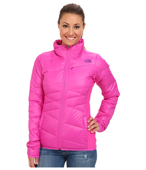 The North Face - Hyline Hybrid Down Jacket (Azalea Pink/Azalea Pink/Gravity Purple/Azalea Pink) Women