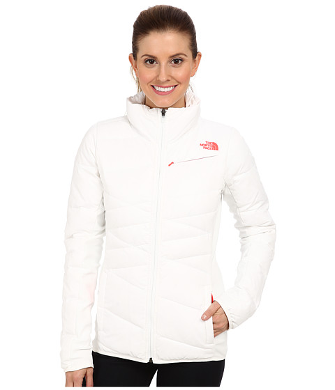 The North Face - Hyline Hybrid Down Jacket (TNF White/Rocket Red/TNF White/Rocket Red/TNF White) Women
