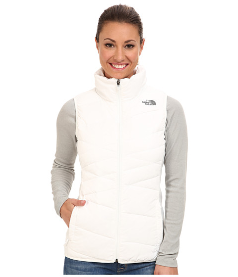 The North Face - Hyline Hybrid Down Vest (TNF White/Sonnet Grey/TNF White/Sonnet Grey/TNF White) Women