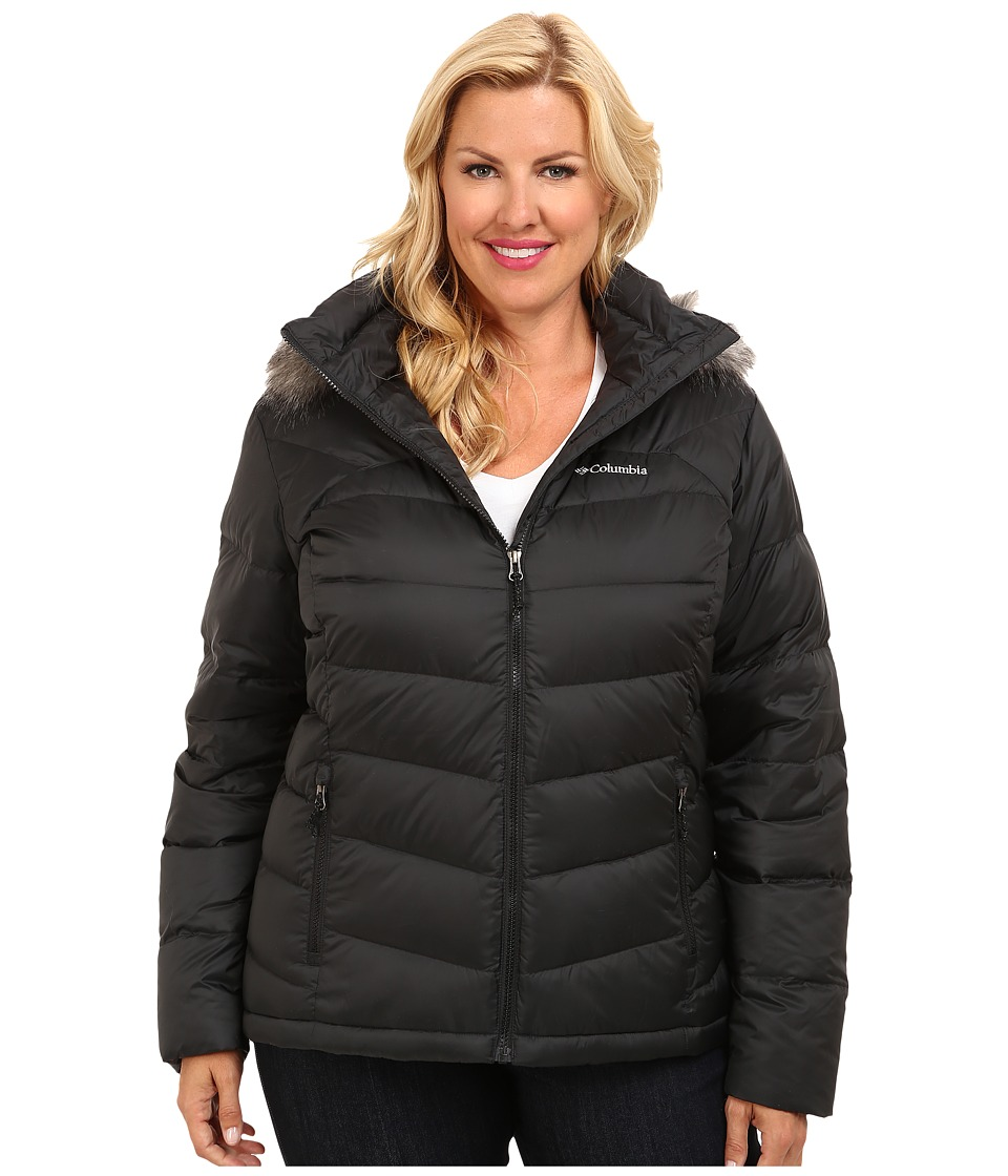 Columbia - Plus Size Glam-Her Down Jacket (Black) Women