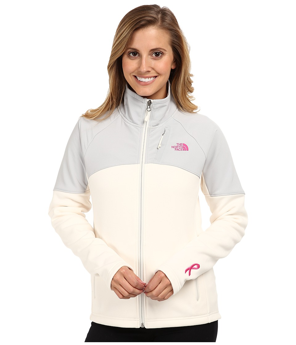 The North Face - Pink Ribbon Momentum 300 Jacket (Gardenia White/High Rise Grey) Women
