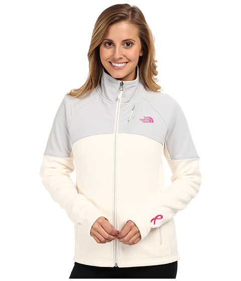 The North Face - Pink Ribbon Momentum 300 Jacket (Gardenia White/High Rise Grey) Women's Coat