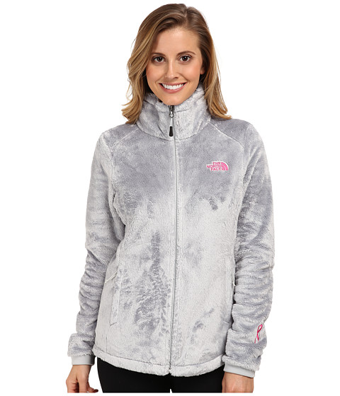 The North Face - Pink Ribbon Osito 2 Jacket (High Rise Grey) Women's Coat