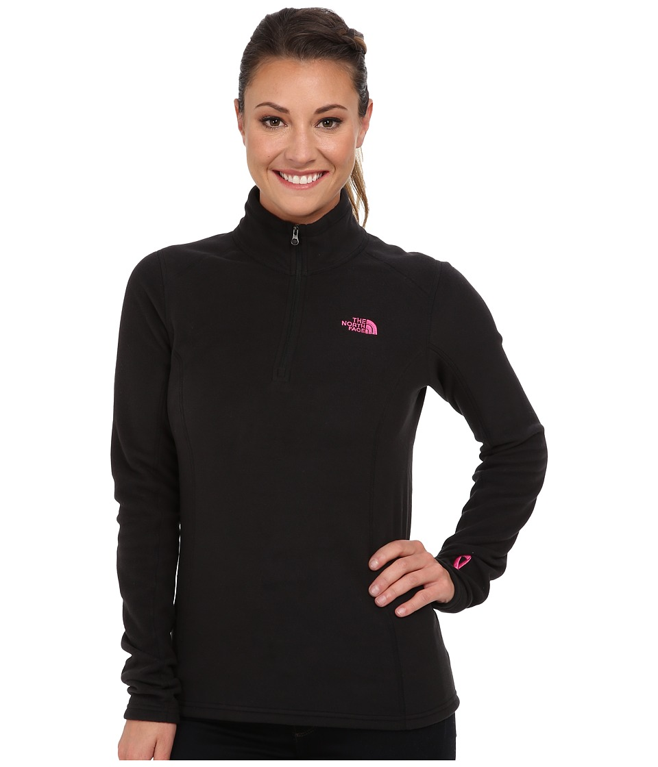 The North Face - Pink Ribbon Glacier 1/4 Zip (TNF Black) Women's Sweatshirt