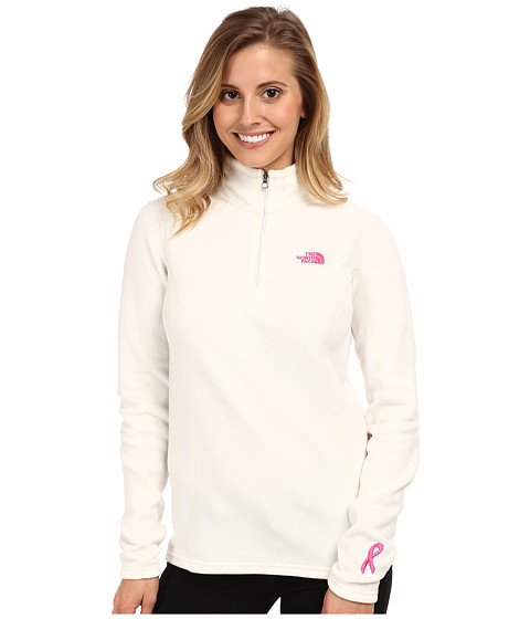 The North Face - Pink Ribbon Glacier 1/4 Zip (Gardenia White) Women