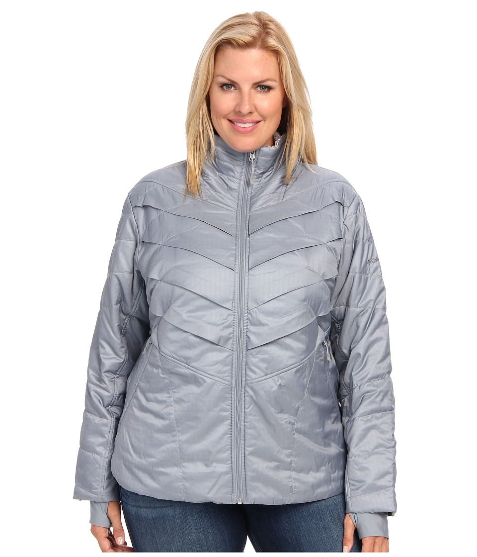 Columbia - Plus Size Kaleidaslope II Jacket (Tradewinds Grey) Women's Coat