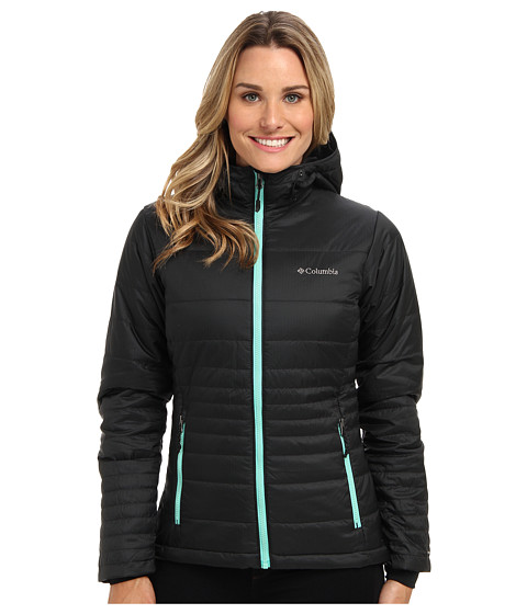 Columbia - Go To Hooded Jacket (Black/Oceanic Pops) Women's Coat
