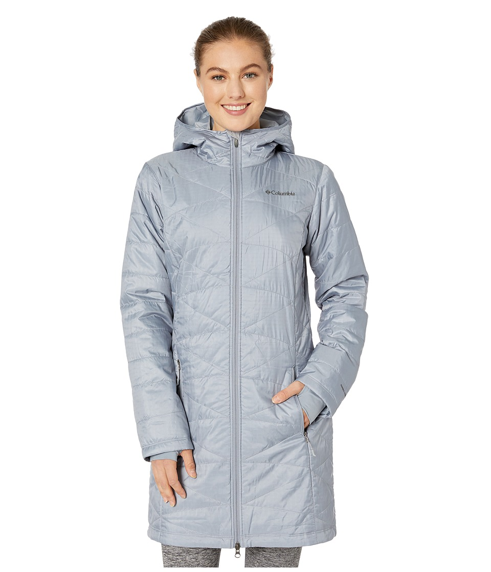 Columbia - Mighty Lite Hooded Jacket (Tradewinds Grey) Women's Coat