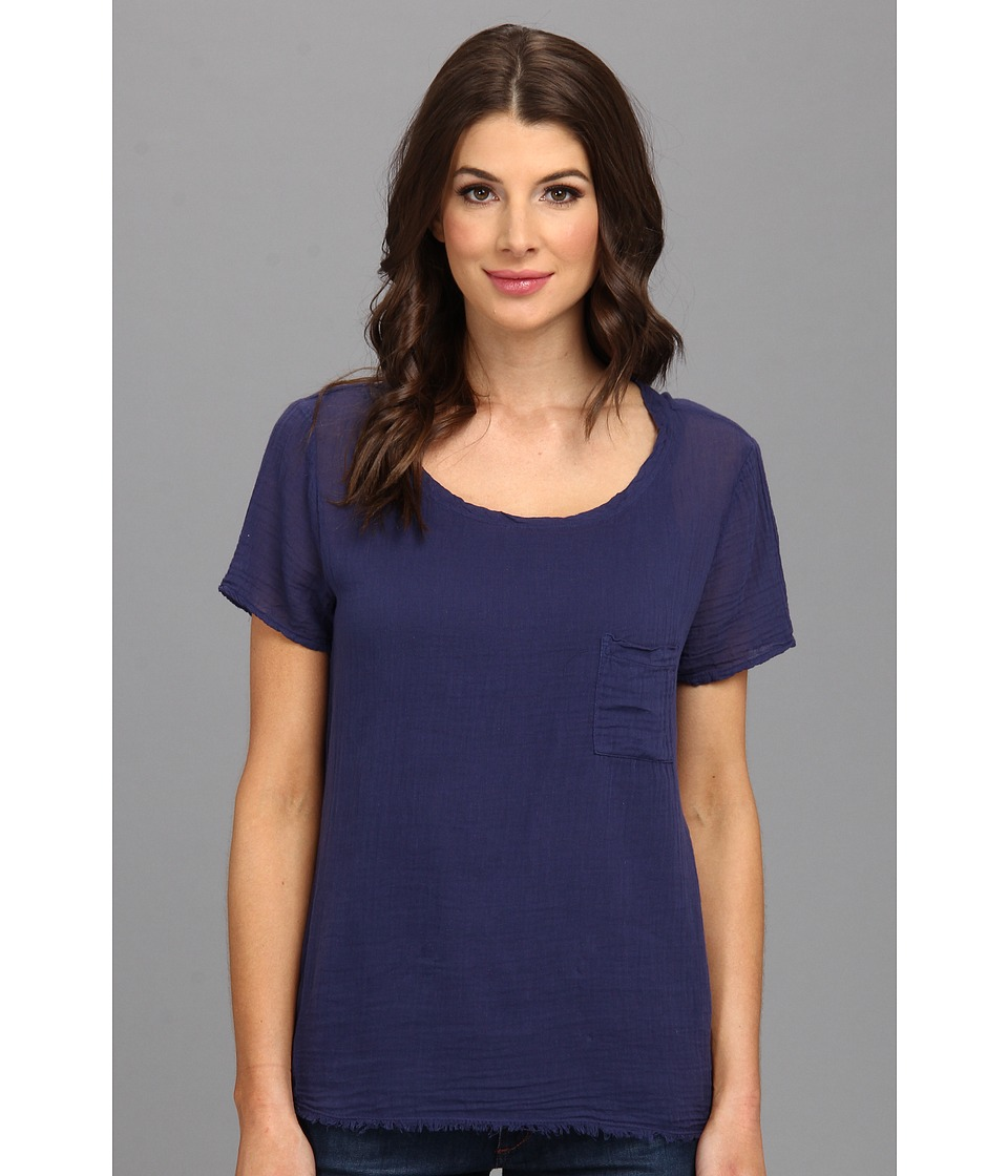 Velvet by Graham & Spencer - Fairfax02 Tee (Navy) Women's Clothing