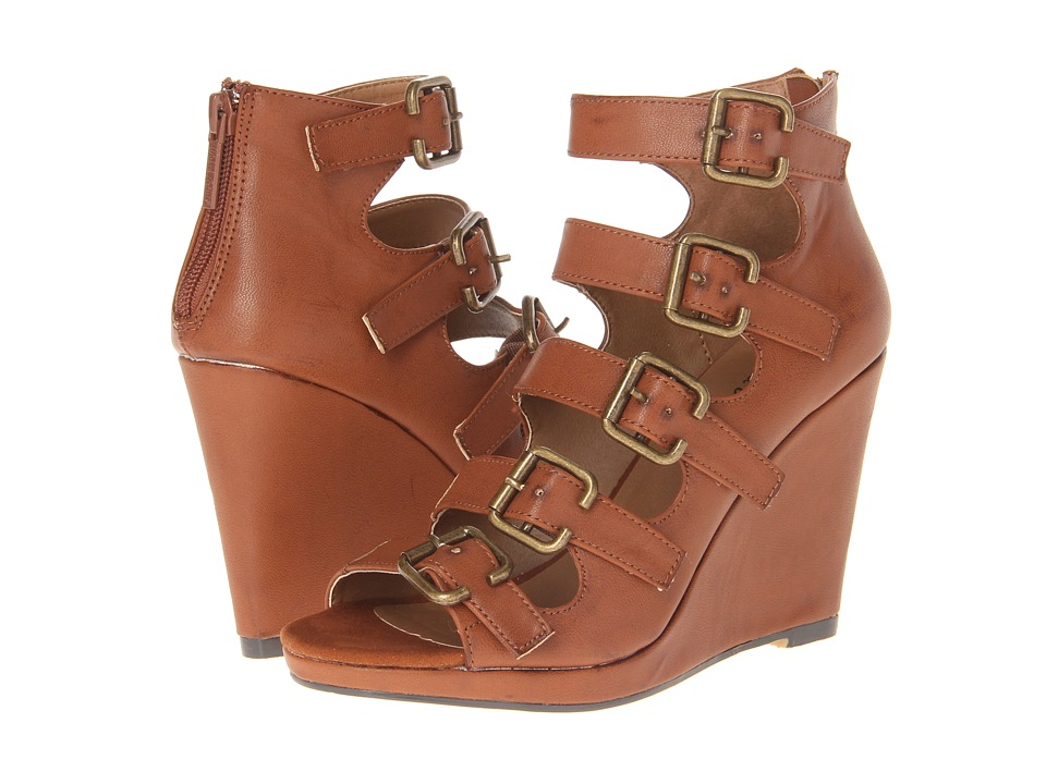 Michael Antonio - Alyson (Cognac) Women's Wedge Shoes