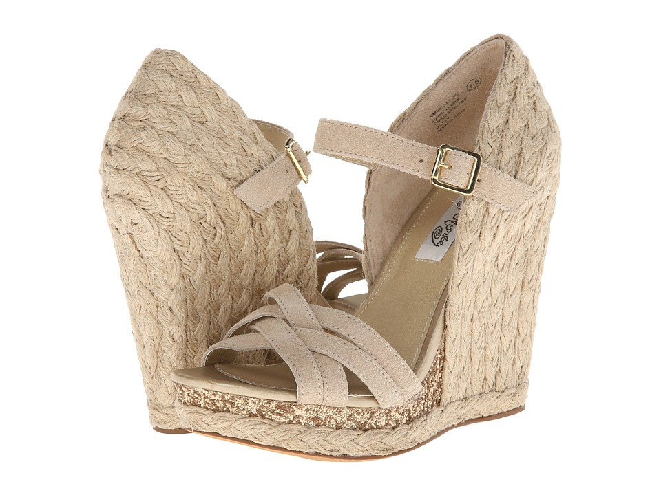 Naughty Monkey - Breeze (Beige) Women's Wedge Shoes