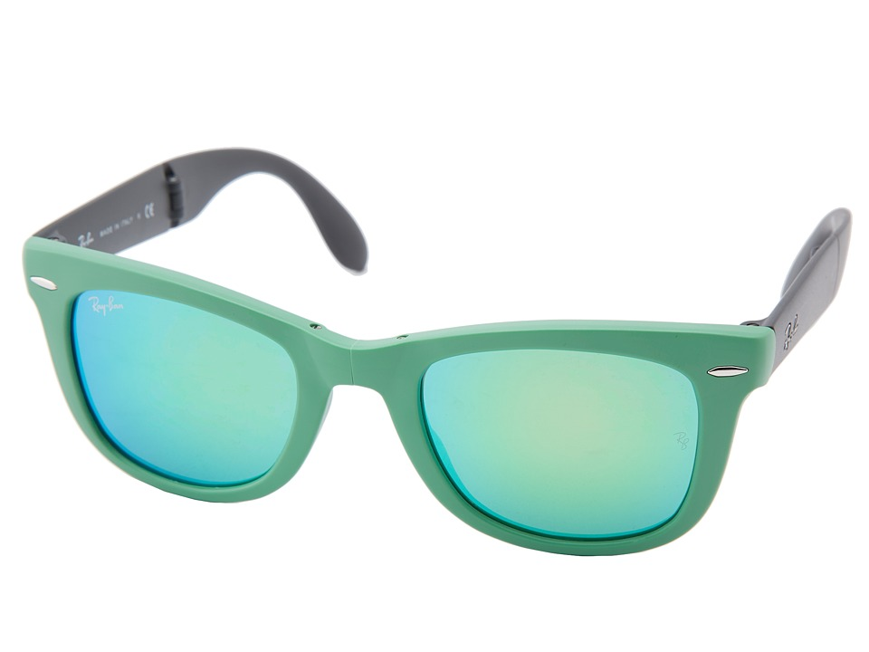 Ray-Ban - RB4105 Wayfarer Folding 50mm (Green) Plastic Frame Fashion Sunglasses
