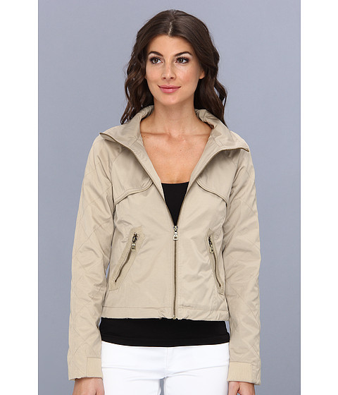 Sam Edelman - Snake Trim Bomber Jacket (Tan/Tan Snake) Women