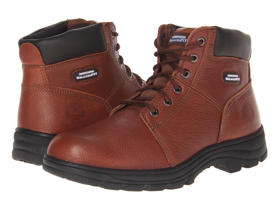 SKECHERS Work - Workshire - Condor (Brown) Men's Lace-up Boots