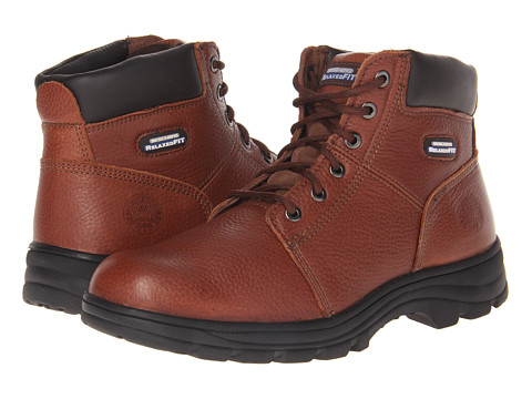 SKECHERS Work - Workshire - Condor (Brown) Men's Lace-up Boots
