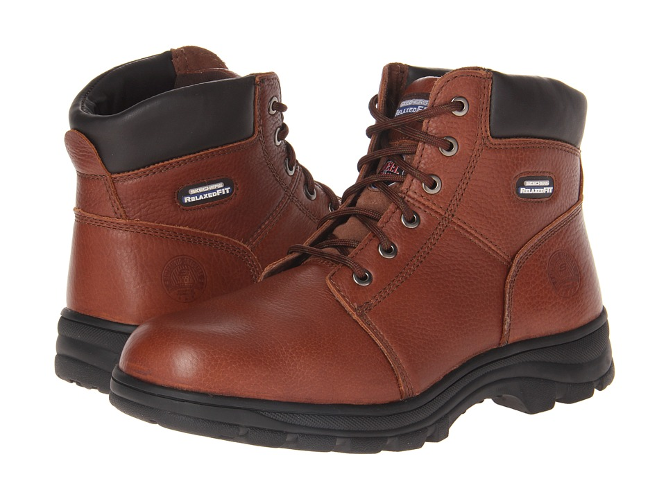 SKECHERS Work - Workshire - Relaxed Fit (Brown) Men's Lace-up Boots